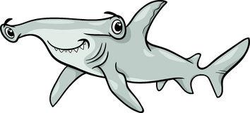 Hammerhead shark cartoon .