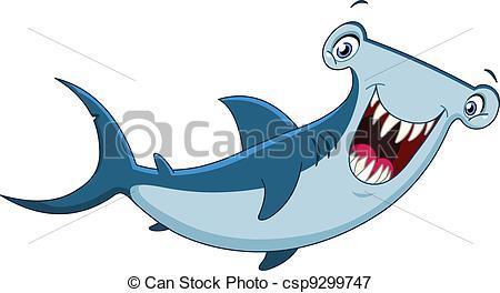 Hammerhead shark .