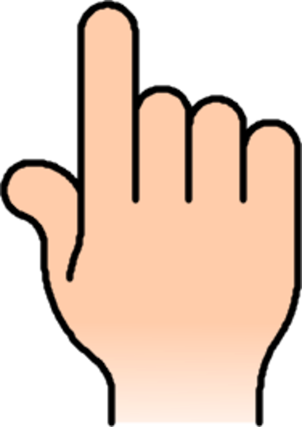 hand finger arm person point - vector Clip Art