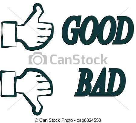 hand good bad Stock ...