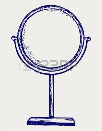 hand mirror: Makeup mirror Doodle style