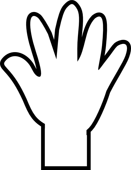 Hand outline template printable clipart 2