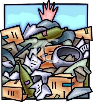 Hand Sticking Out Of A Pile Of Garbage In A Dump Royalty Free Clip
