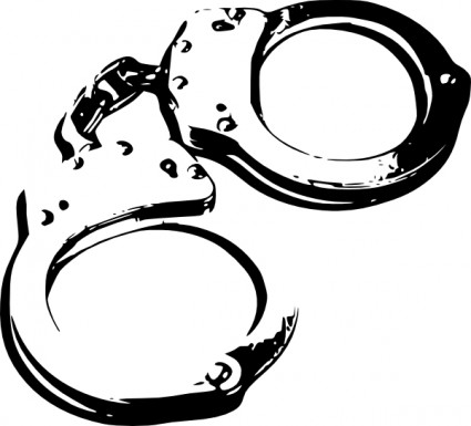 Handcuffs clip art free vector in open office drawing svg