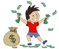 handfull of money. Size: 60 Kb