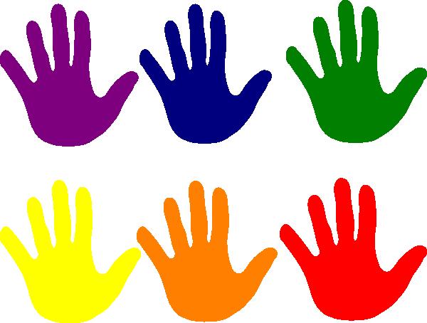 Hands Various Colors Clip Art