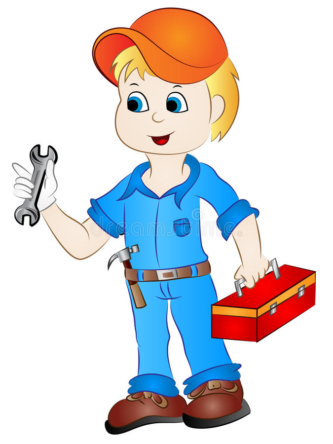 Handyman Clipart Cartoon Mechanic Handyman Clip Art Stock Vector - Illustration of  colorful, vector: 88545040