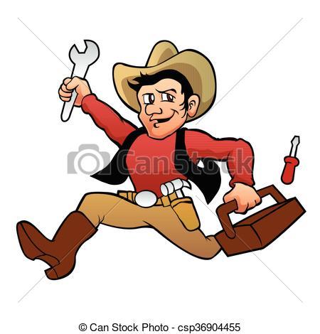 handyman cowboy. - csp36904455