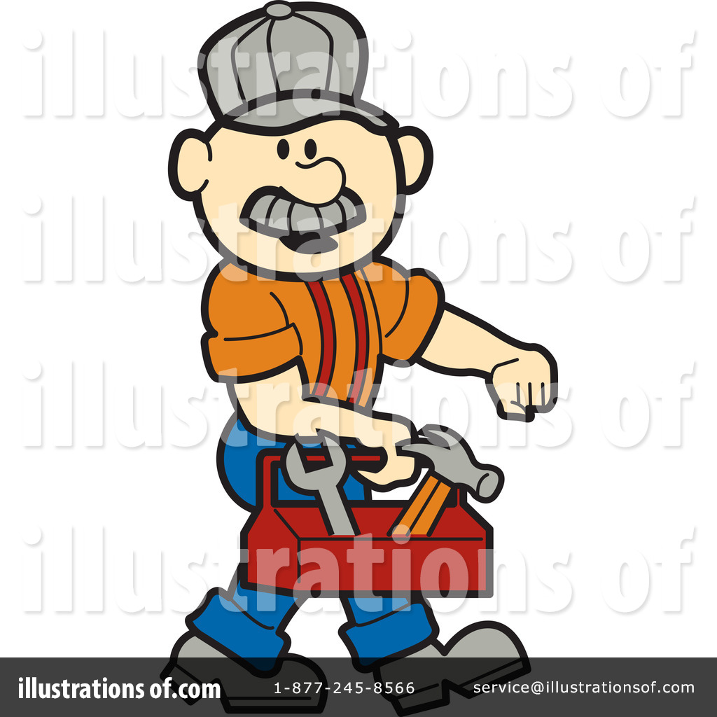 Royalty-Free (RF) Handyman Clipart Illustration #1255218 by Andy Nortnik