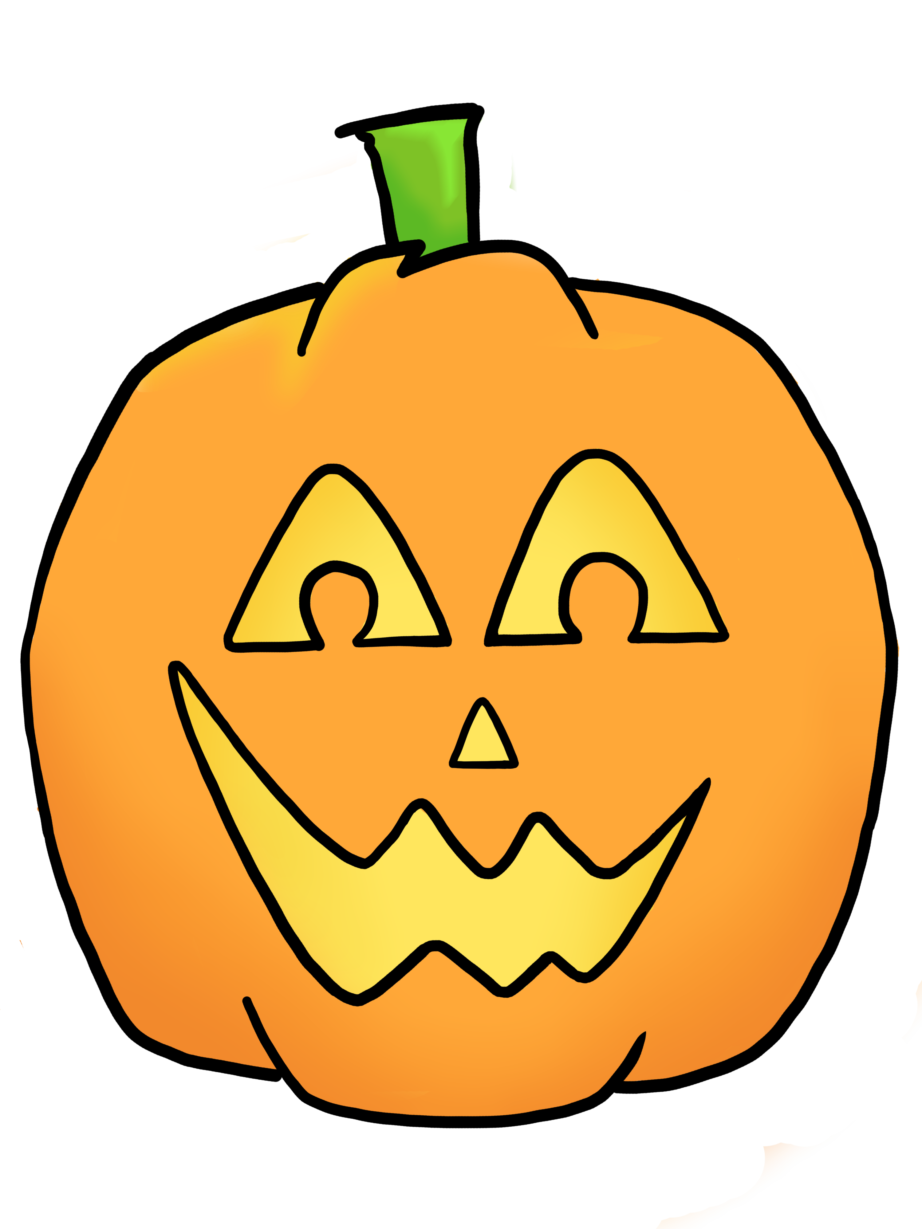 happy jack o lantern clipart
