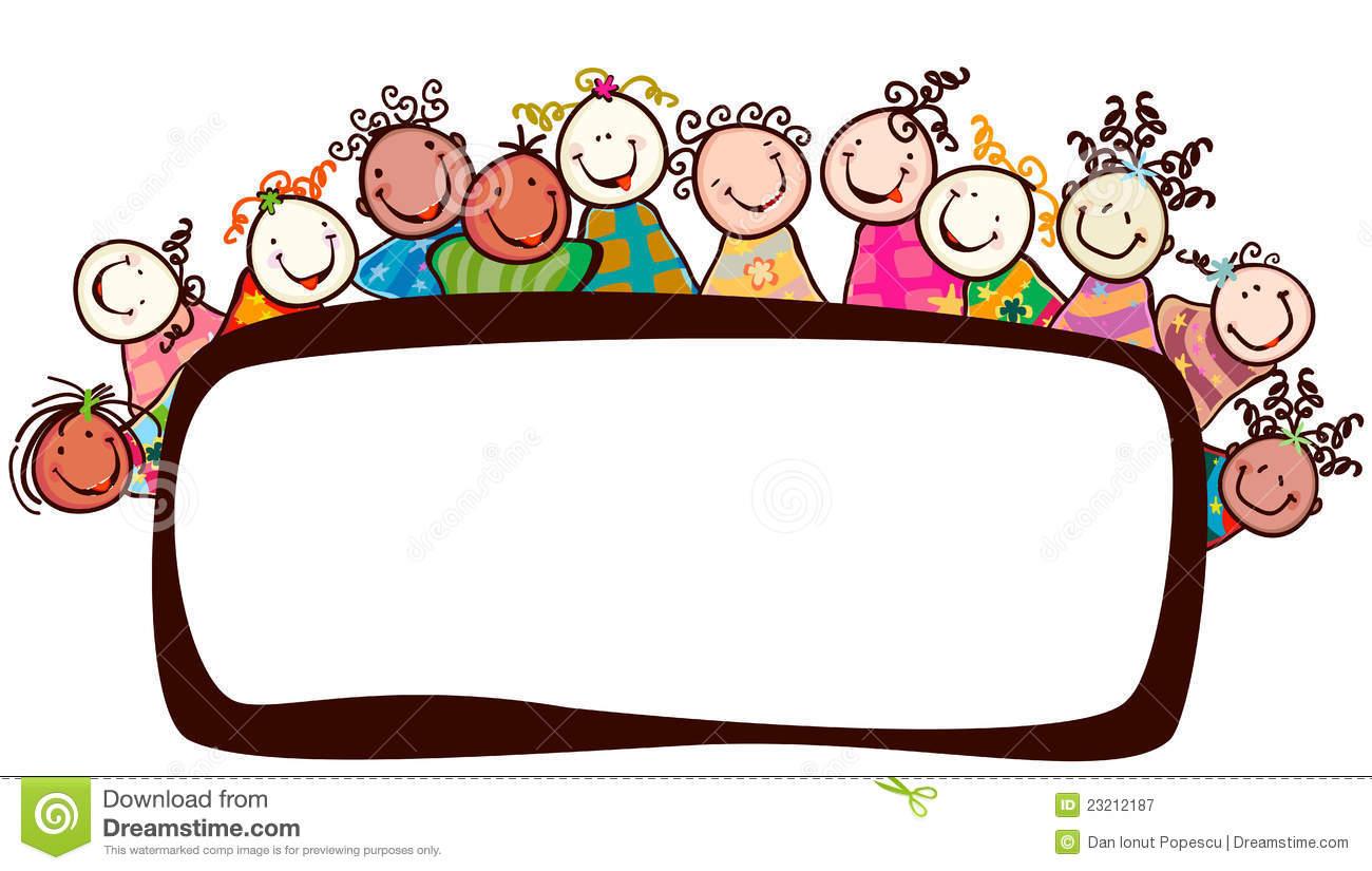 happy kids face clipart
