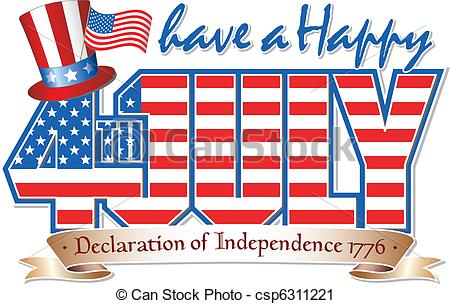 ... Happy 4th JULY - Have a Happy 4th July editable vector.