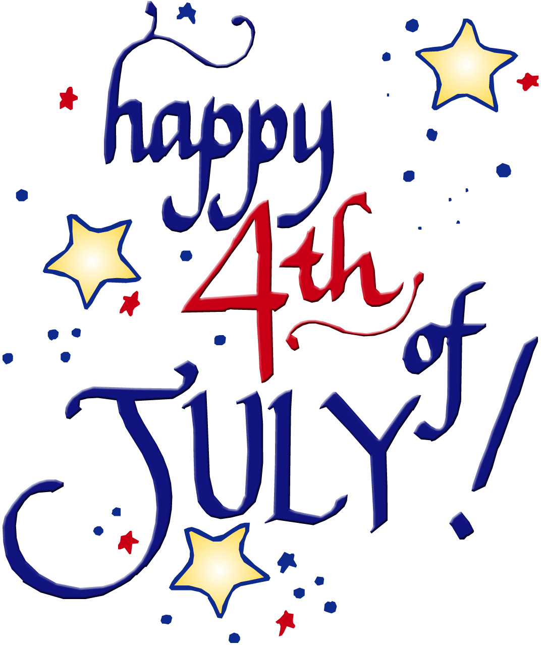 Happy 4th Of July Clip Art For .