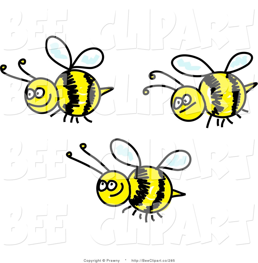 Happy Bee Clipart - Clipart .