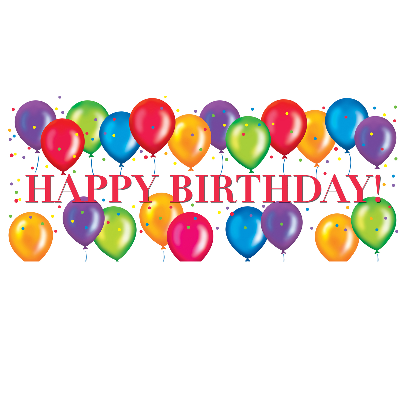 Happy Birthday Balloons Clipart Clipart Panda Free Clipart Images