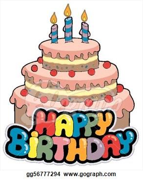 Happy Birthday Cake Clipart Happy Birthday Sign With Cake Gg56777294