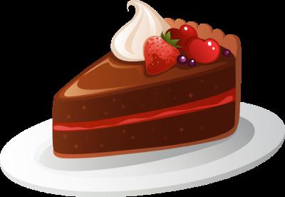 Happy Birthday cake slice . Fotor Chocolate Clip Art ..