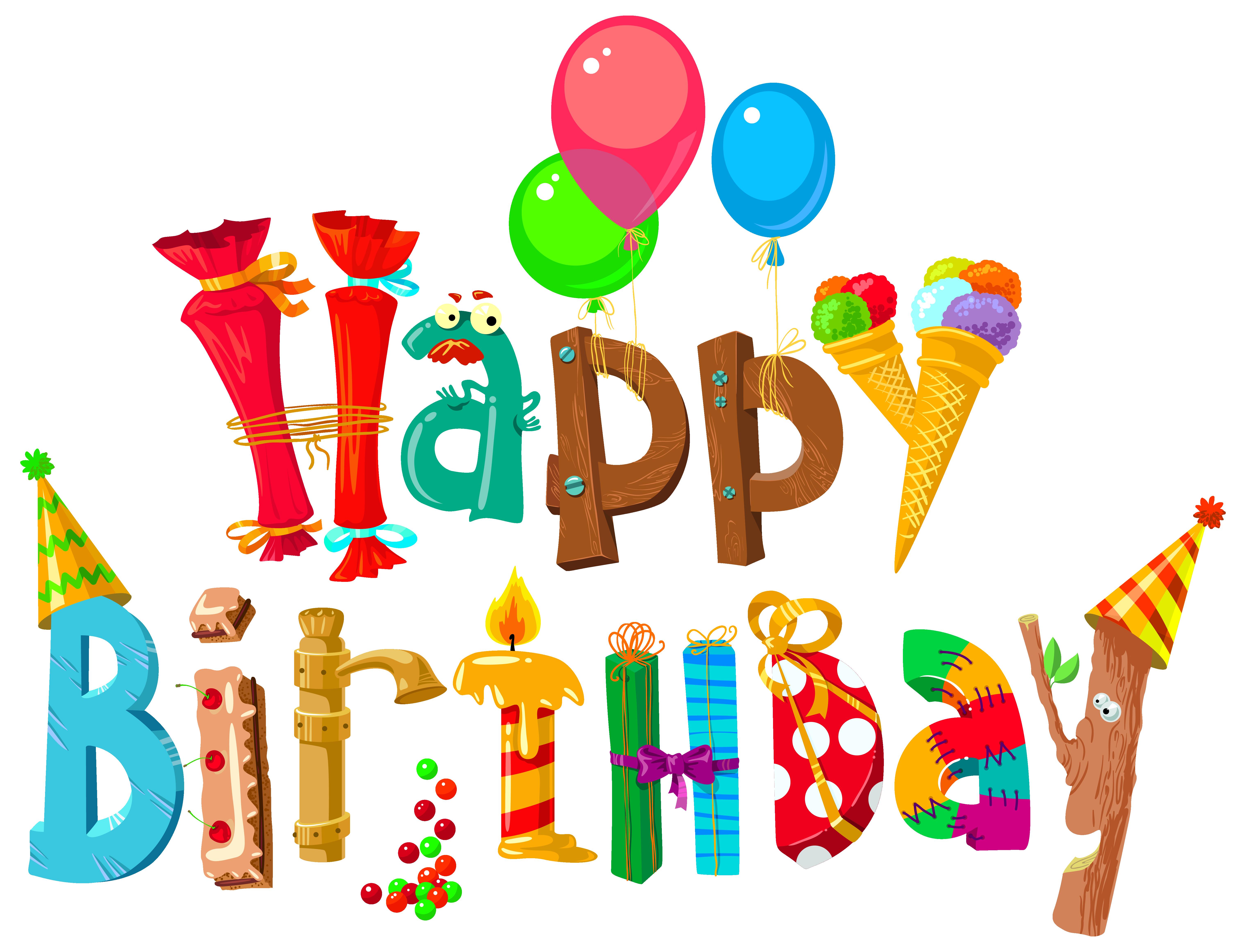 happy birthday clipart