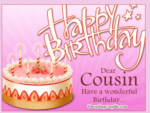 Happy Birthday Cousin on .