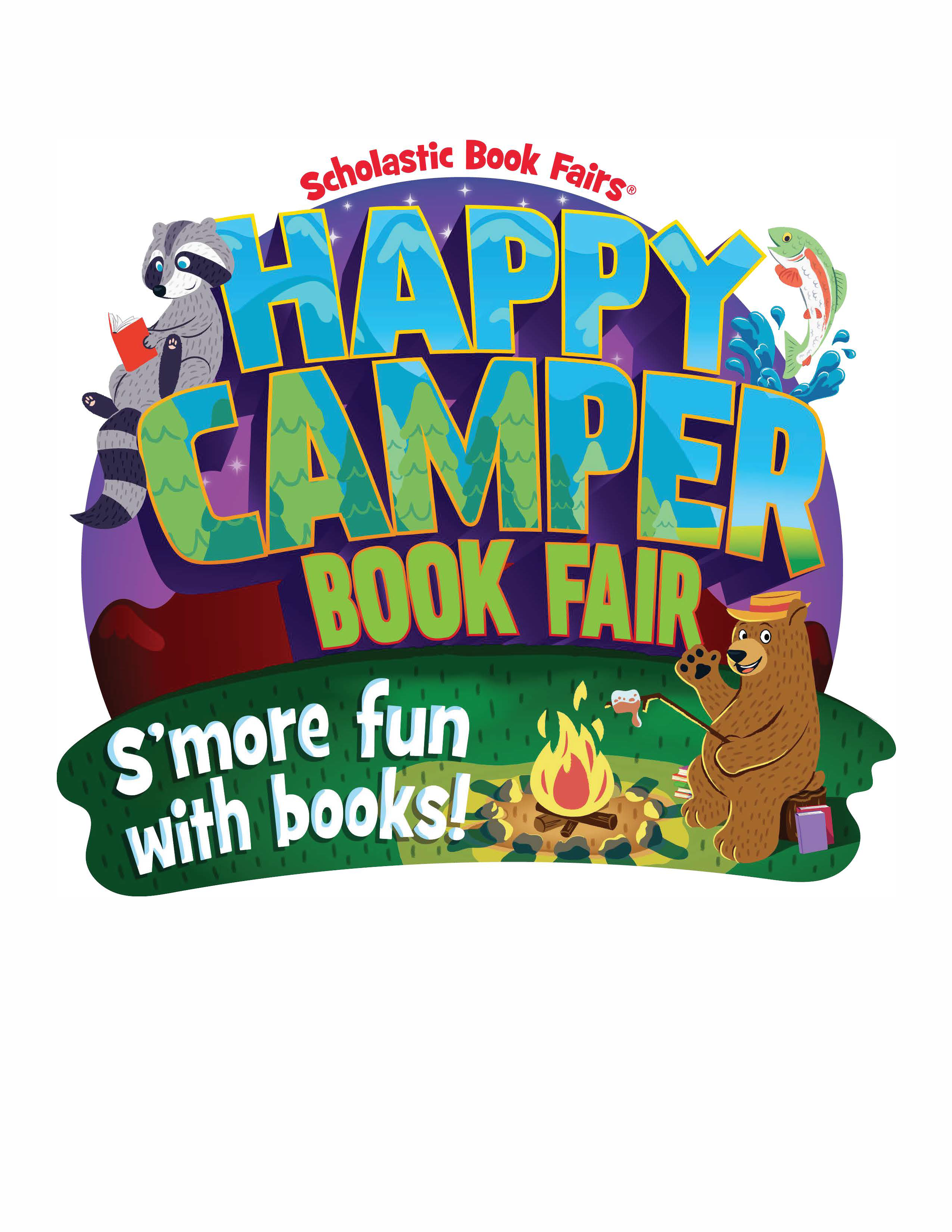 Happy Camper Book Fair Fair Clip Art (2nd Fair of the School Year)