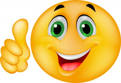 Happy Face Thumbs Up Clipart #1