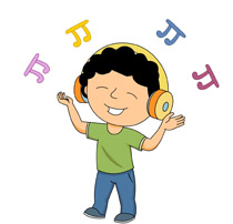 happy dancing while listening music clipart. Size: 79 Kb