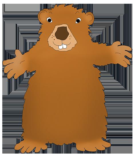 happy groundhog