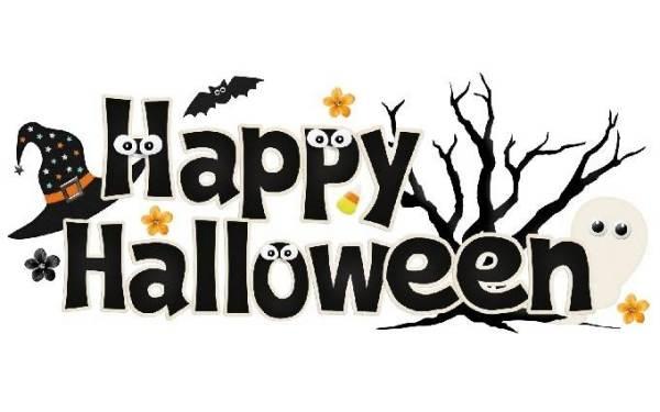 Happy halloween clipart .