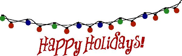 Happy Holidays Lights Clip Art At Clker Com Vector Clip Art Online