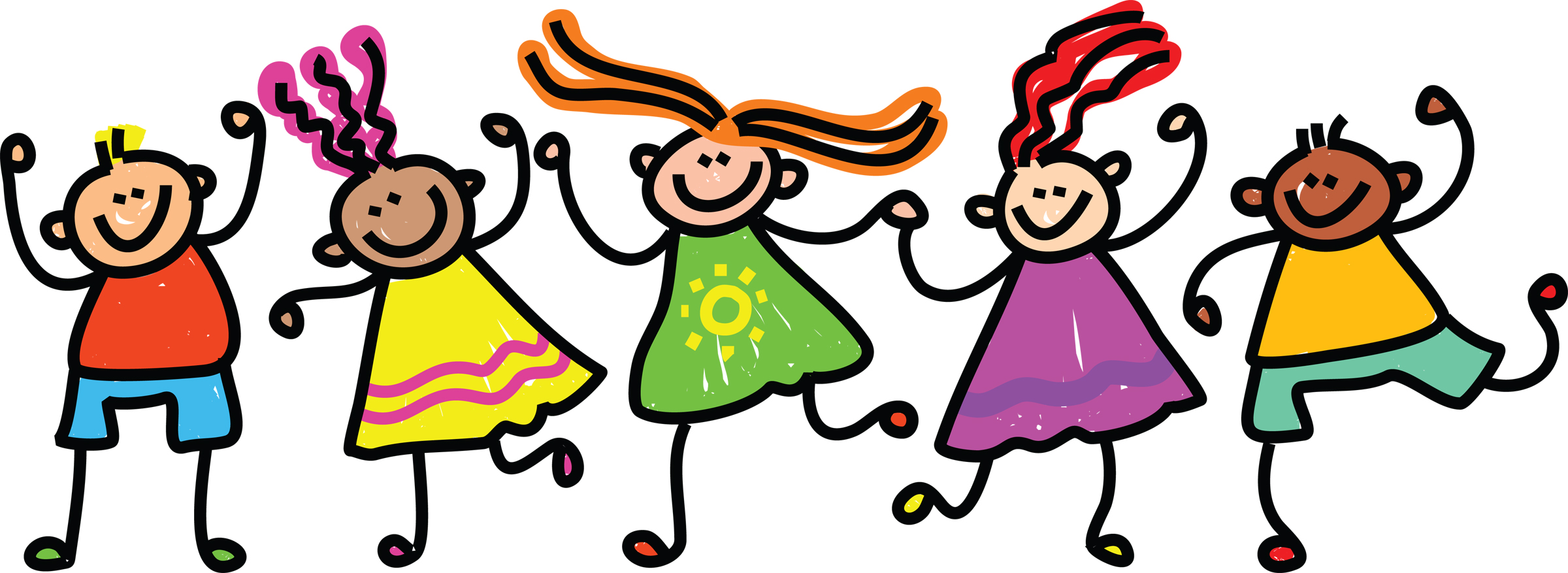 Happy Kids Clipart Black And White   Clipart library - Free Clipart