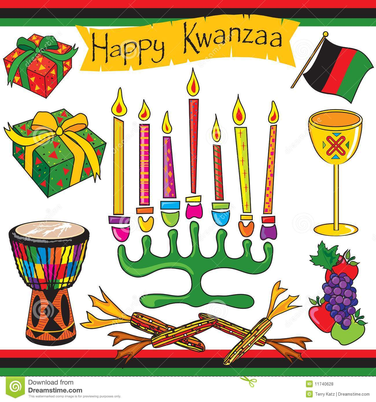 Happy Kwanzaa clip art and icons