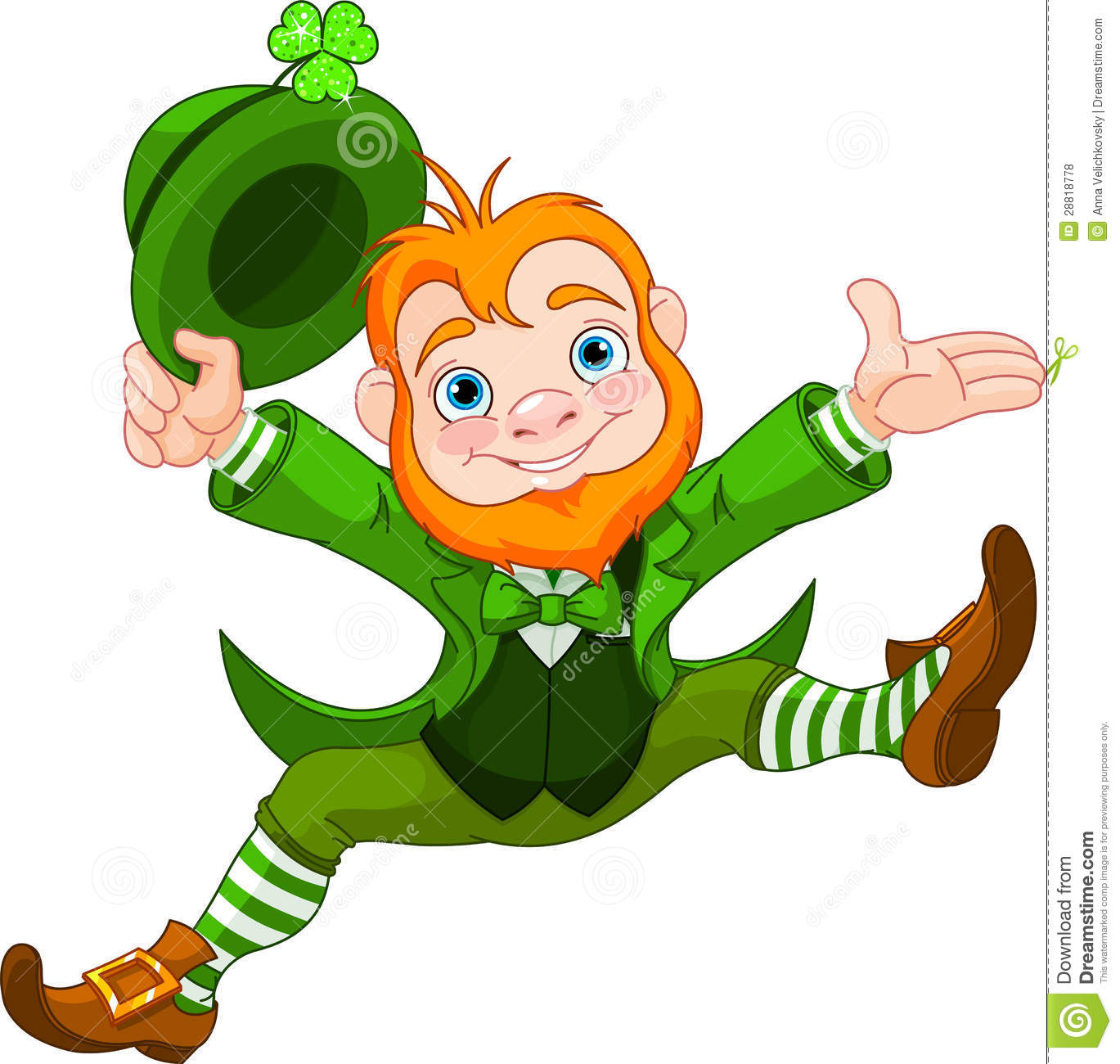 Happy Leprechaun Royalty Free Stock Photos