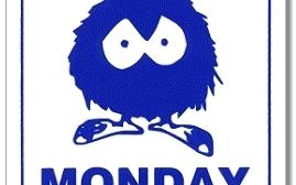Happy Monday Clipart Vector .