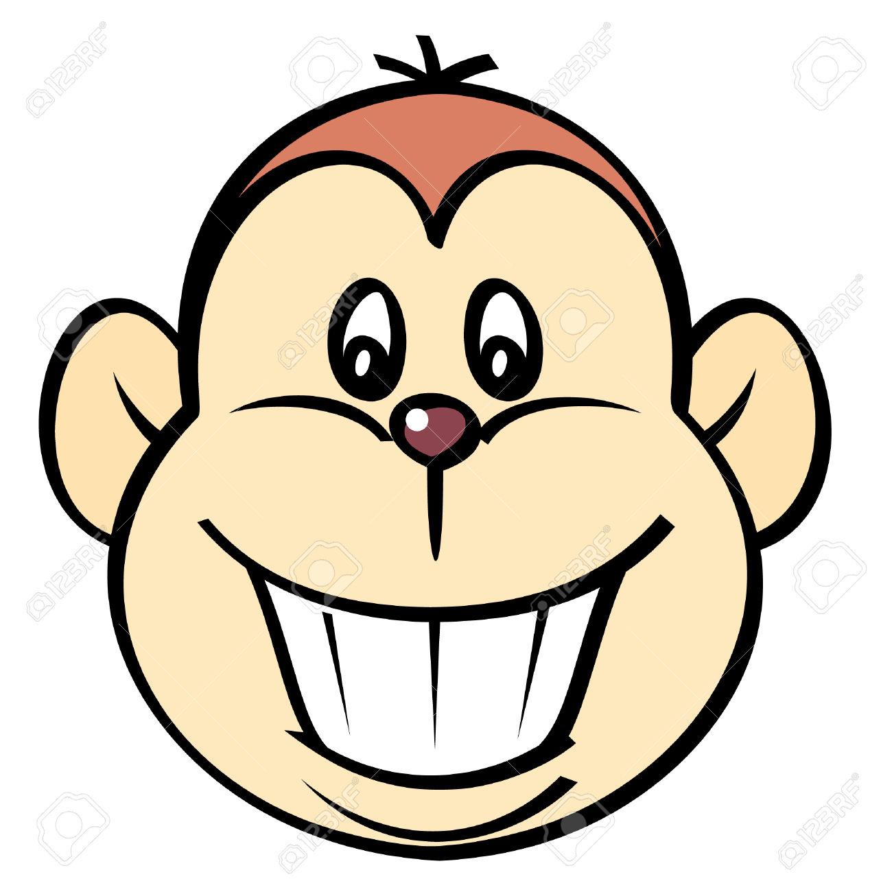 Happy Monkey Vector Illustration Royalty Free Cliparts Vectors