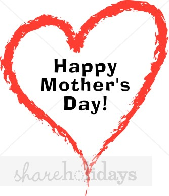 Heart Happy Motheru0027s Day Clipart