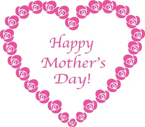 Mothers Day Clipart Image: Clip art Illustration of a Happy Motheru0027s Day  Heart Sign Made