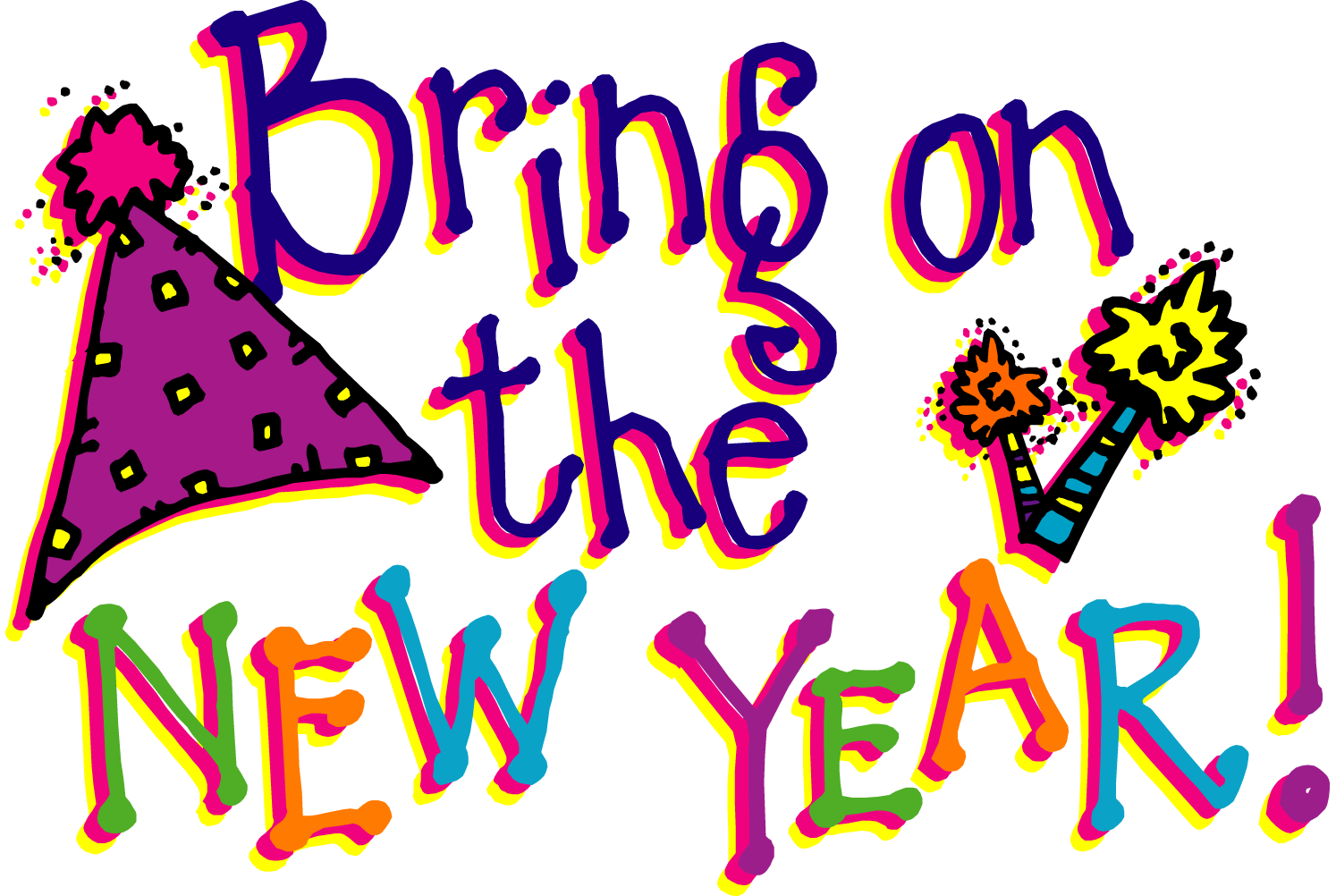 Happy new year clipart 6 .