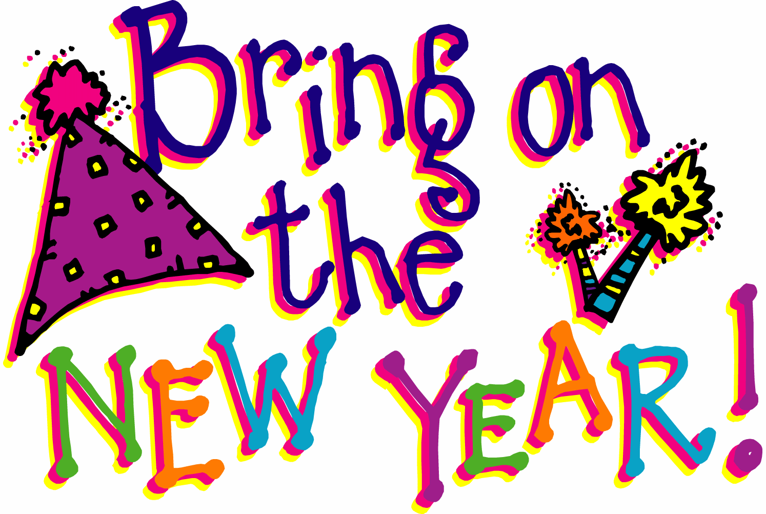 Bring The New Year Clipart