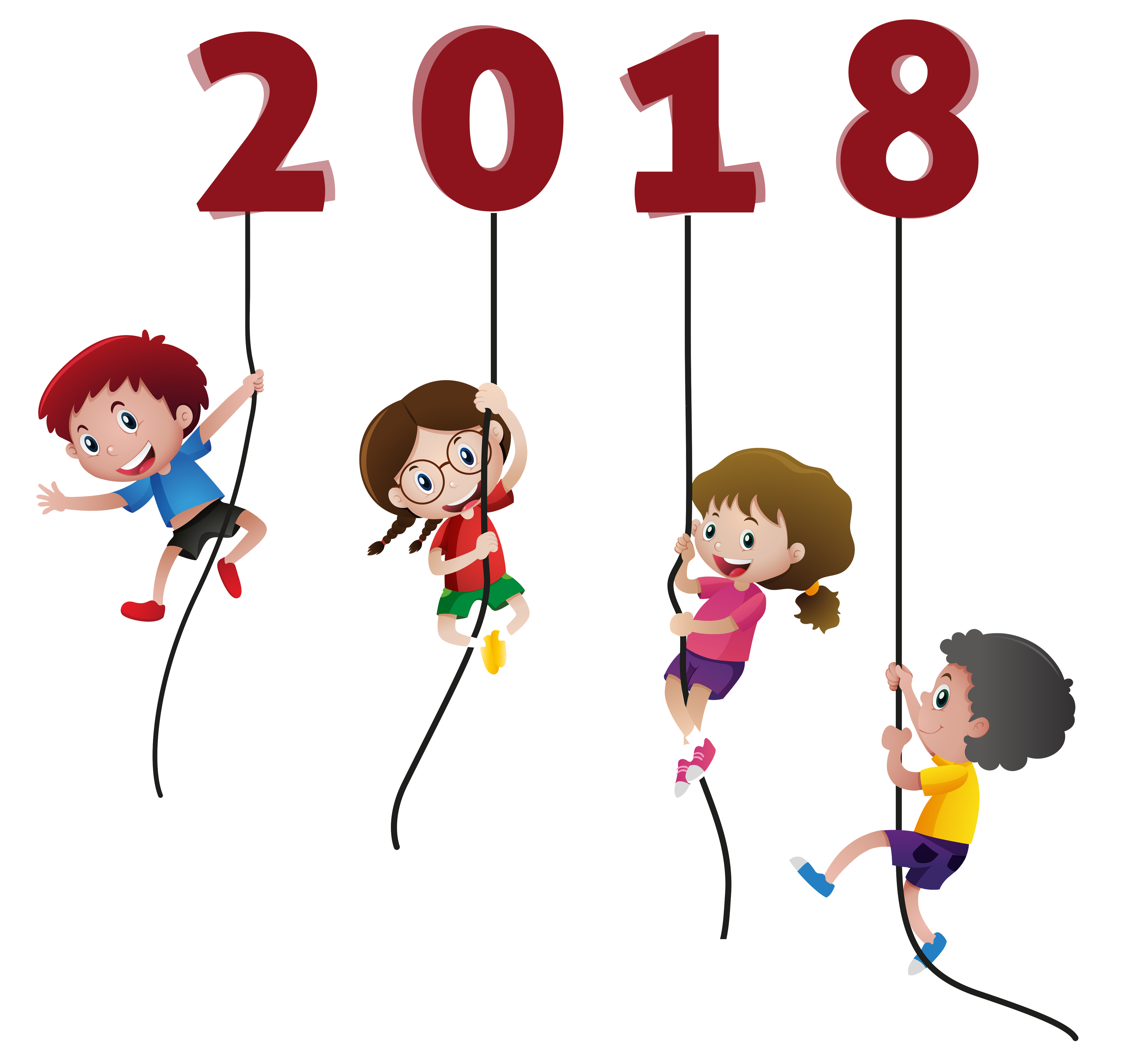 Happy New Year 2018 Kids Funny without background - Coloring Point . hdclipartall.com svg  freeuse