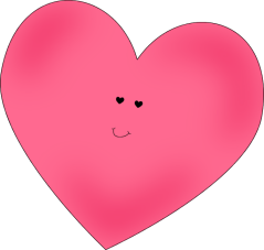 Happy Pink Heart - Love Clipart