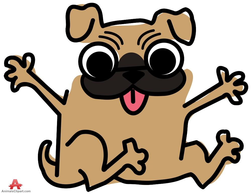 Happy Pug Dog Clipart