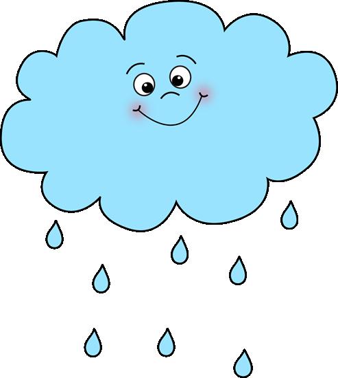 Happy Rain Cloud Clip Art