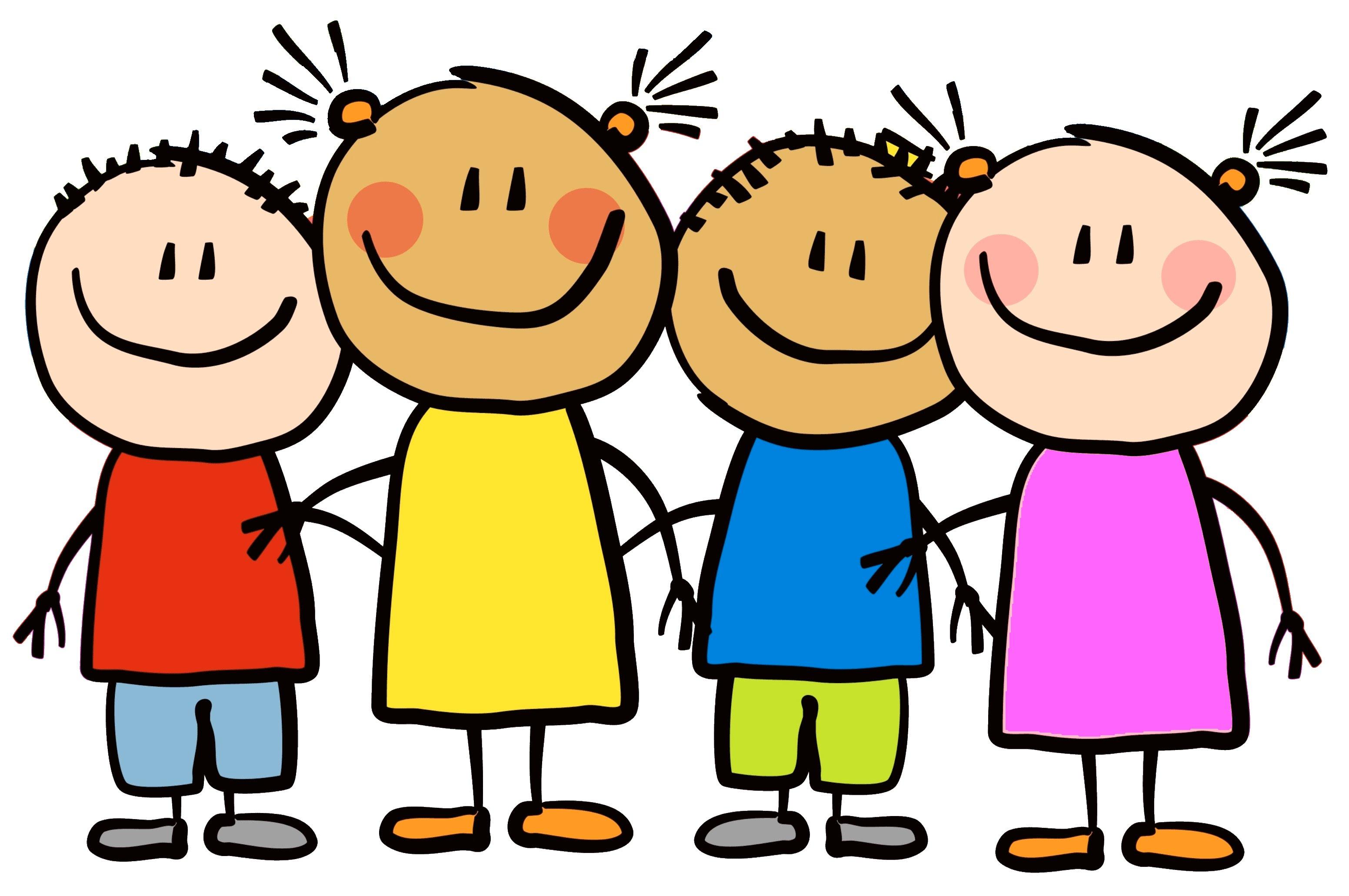 Happy school kids clipart - .