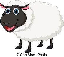 ... Happy sheep cartoon - Vector Illustration of Happy sheep.