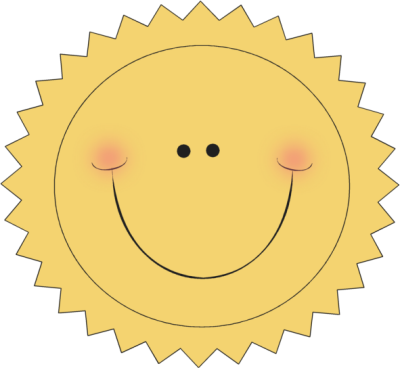 Happy Sun Clip Art Image - happy sun with a great big smile.