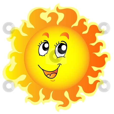 Cute Happy Sun Clipart #1