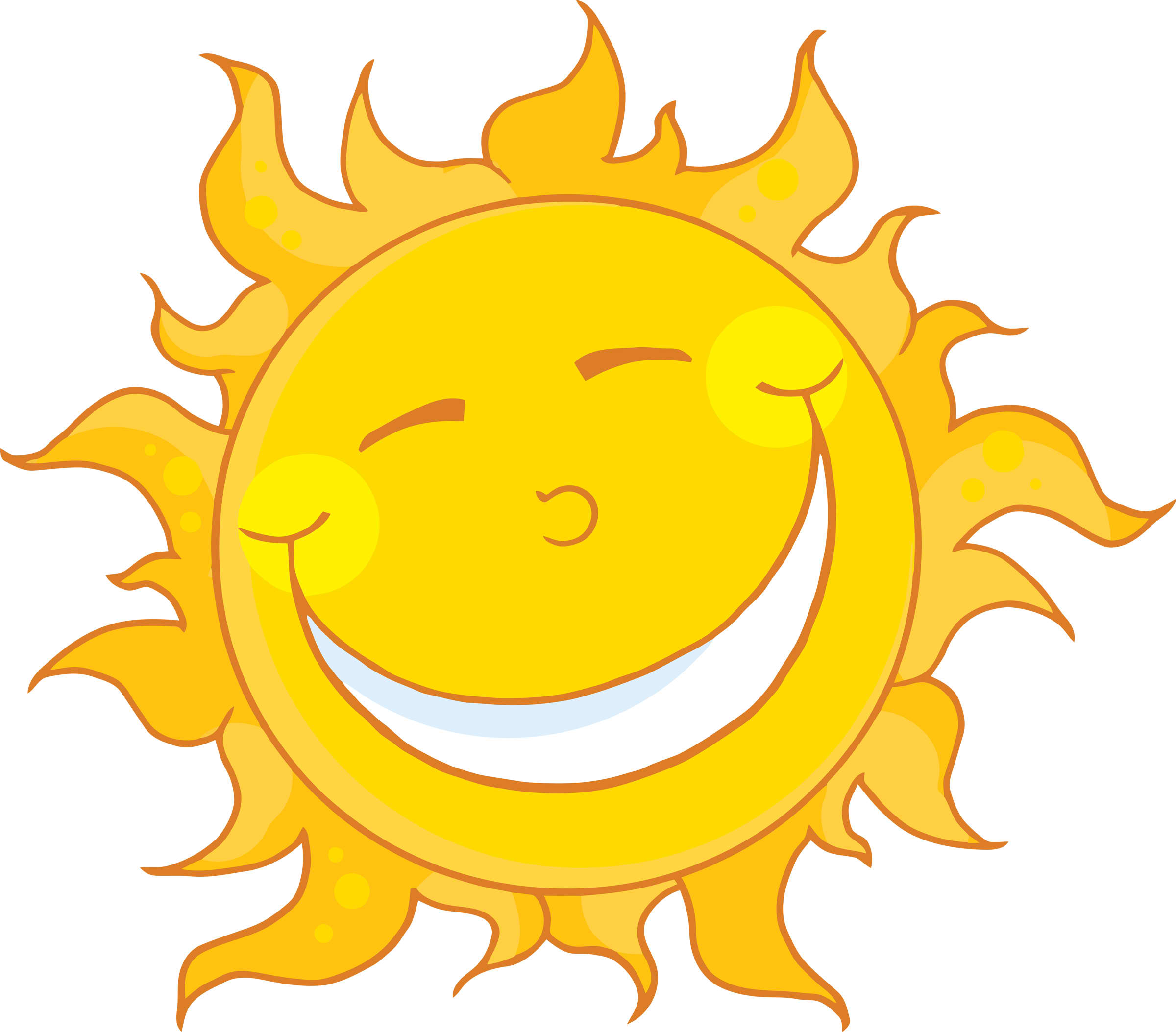 Happy Sun Clipart #12681