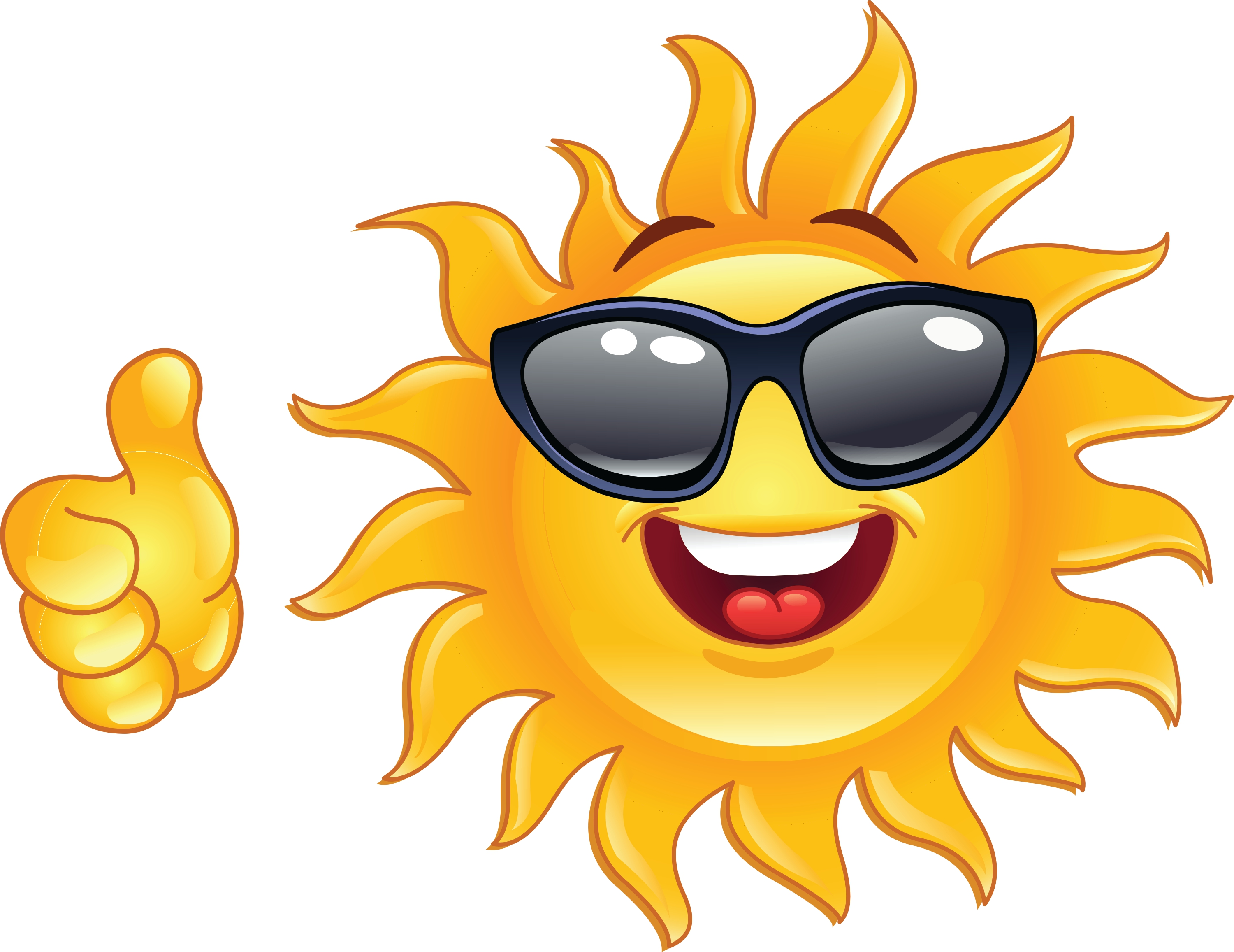 Happy sun clipart 3