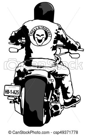 Harley Davidson and Rider - csp49371778