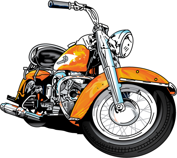 Harley davidson motorcycle clipart 2